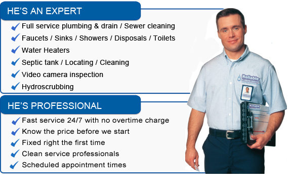 Houston Plumbers from Reliable Plumbing Services.